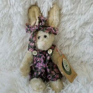 """Boyds Bears Hannah Rabbit Bunny Poseable 7.5"""""""